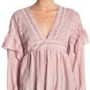 NWT Champagne & Strawberry top